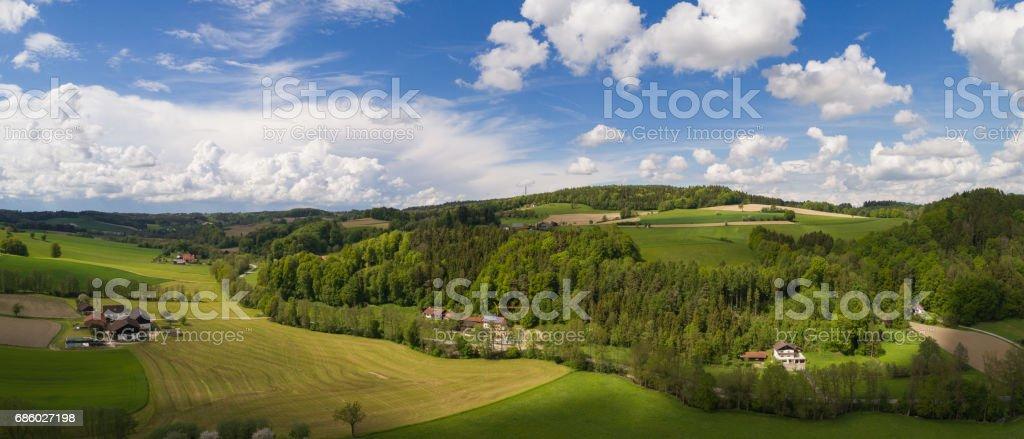 Luftaufnahme Bild einer bayerischen Landschaft – Foto