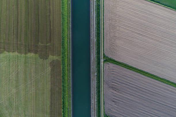 Luftaufnahme mit Blick auf einen Kanal – Foto