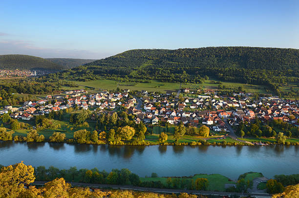 Aereal view of a germany town stock photo
