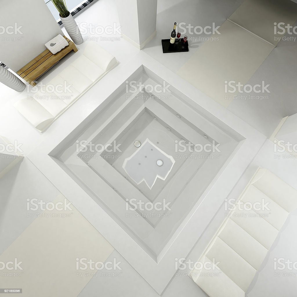 Aereal view of a luxurious bath spa royalty-free stock photo