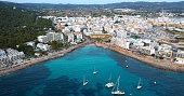 Aereal view of Sant Antoni - Ibiza