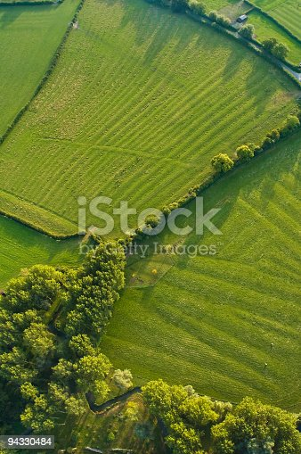istock Aerial abstract, woodland and pasture 94330484