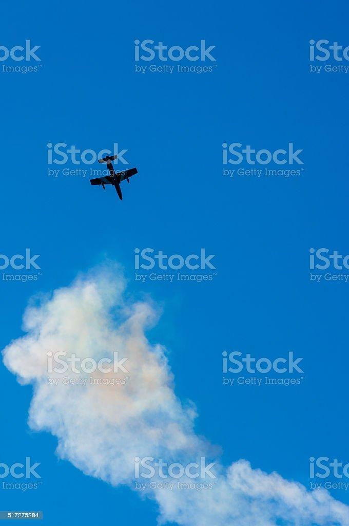 Aerial acrobatics stunt flying stock photo