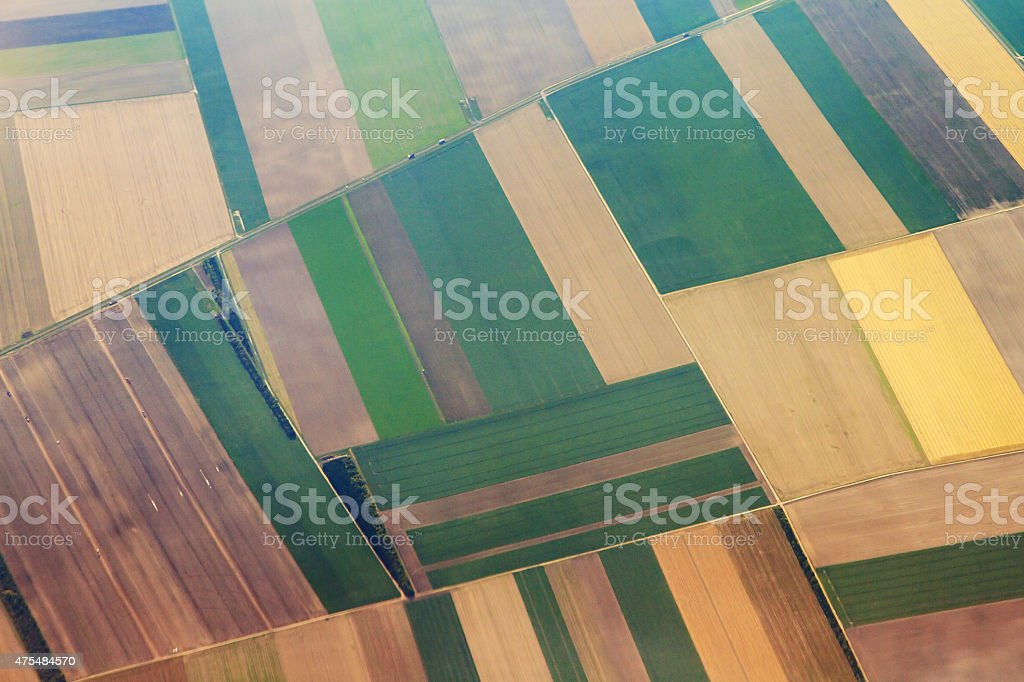 Aerial agriculture stock photo