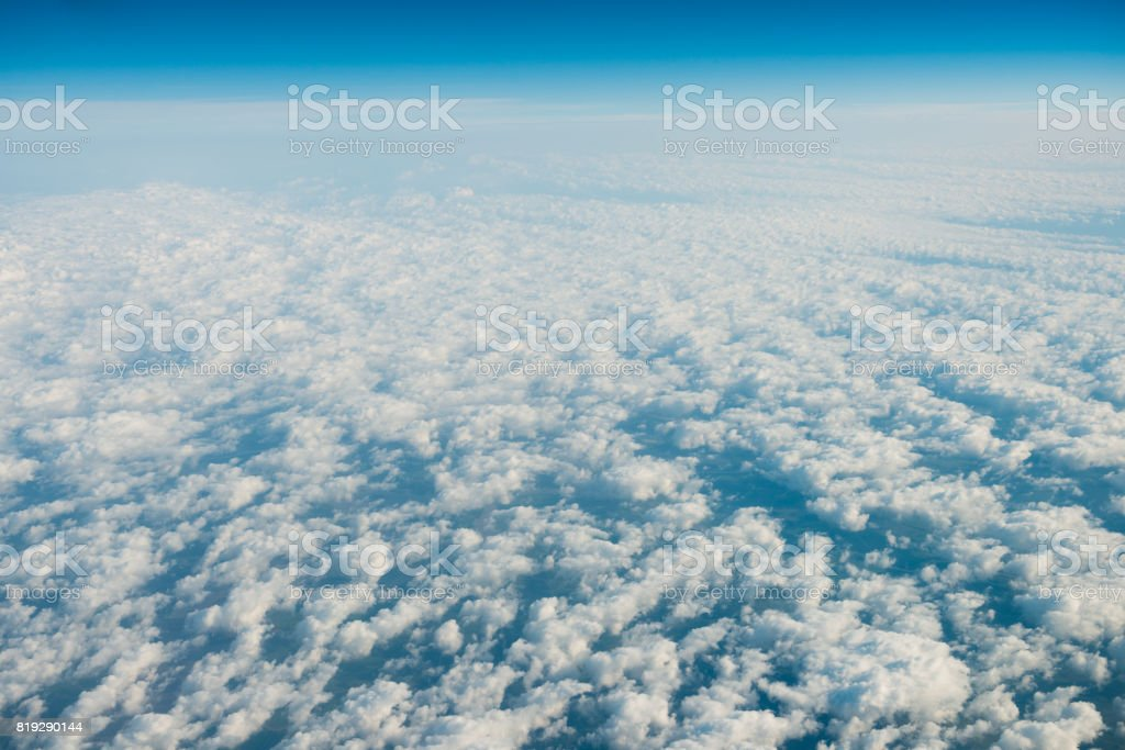 Aerial Altocumulus Cloud Typologies Mexico Spring Sky stock photo