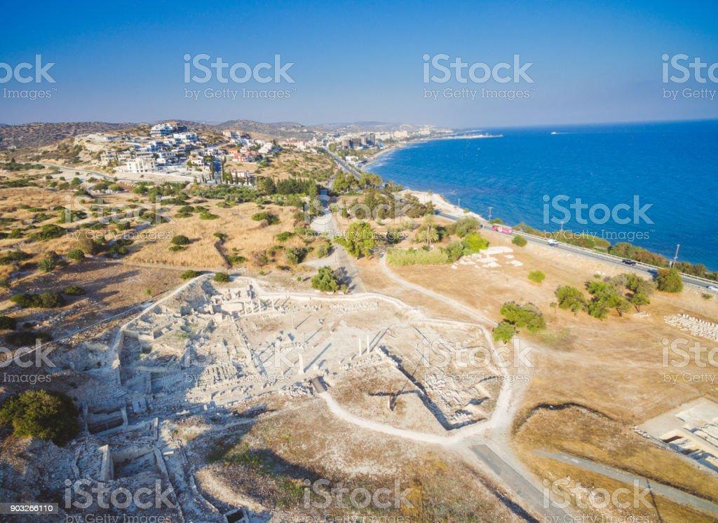 Aerial Amathounta, Limassol stock photo
