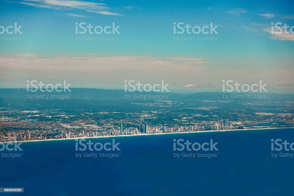Aerial and panoramic view of Golden Coast royalty-free stock photo