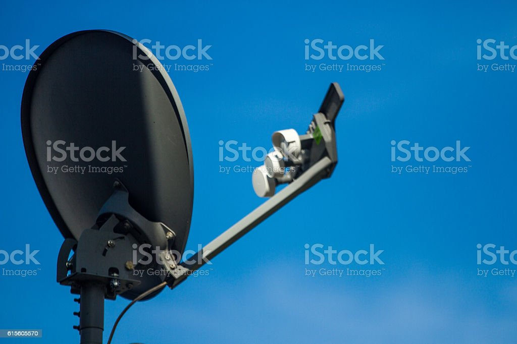 Aerial antenna for television stock photo