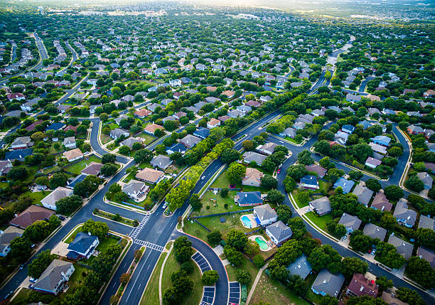 Aerial Austin Surburb Home Development Vast neighborhoods - Photo