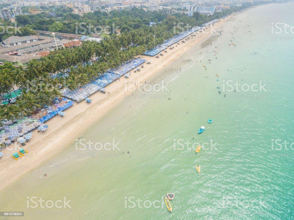 Aerial Strand Perspektive. Lizenzfreies stock-foto