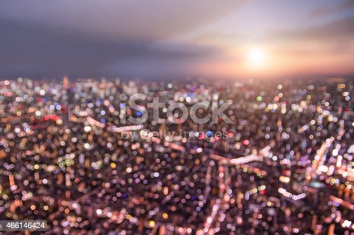1154996700istockphoto Aerial bokeh of Tokyo skyline from above during sunset 466146424