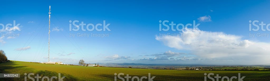 Aerial broadcasting and receiving royalty-free stock photo