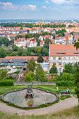 Tourists are enjoying the city scenery at Bamberg, Bavaria, Germany
