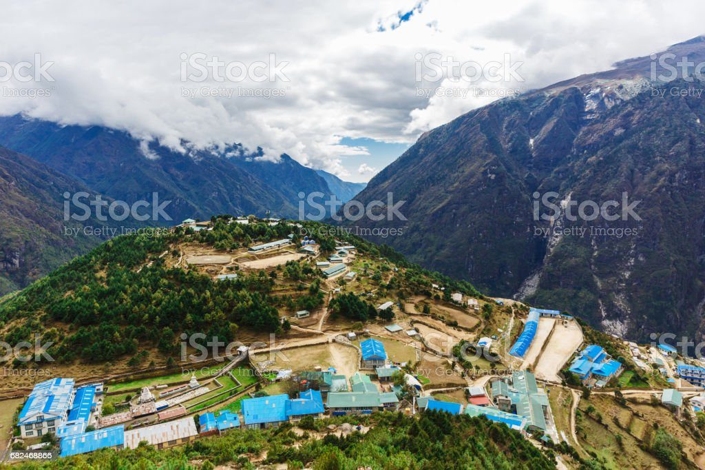 Aerial city view royalty-free stock photo