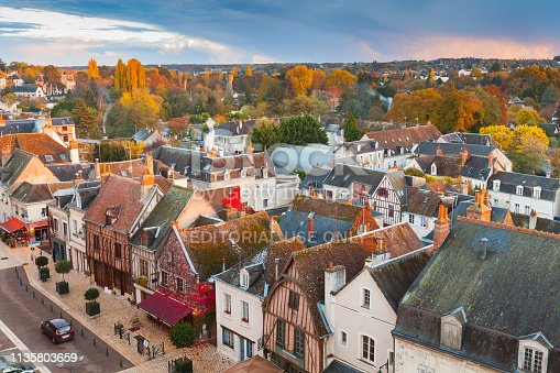 istock Aerial cityscape of Amboise old town 1135803659