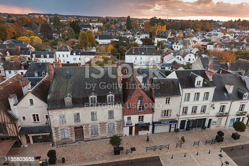 istock Aerial cityscape of Amboise 1135803658