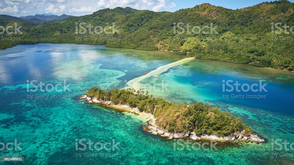 Aerial Close Up View Of Snake Island El Nido Palawan Philippines Stock Photo Download Image Now
