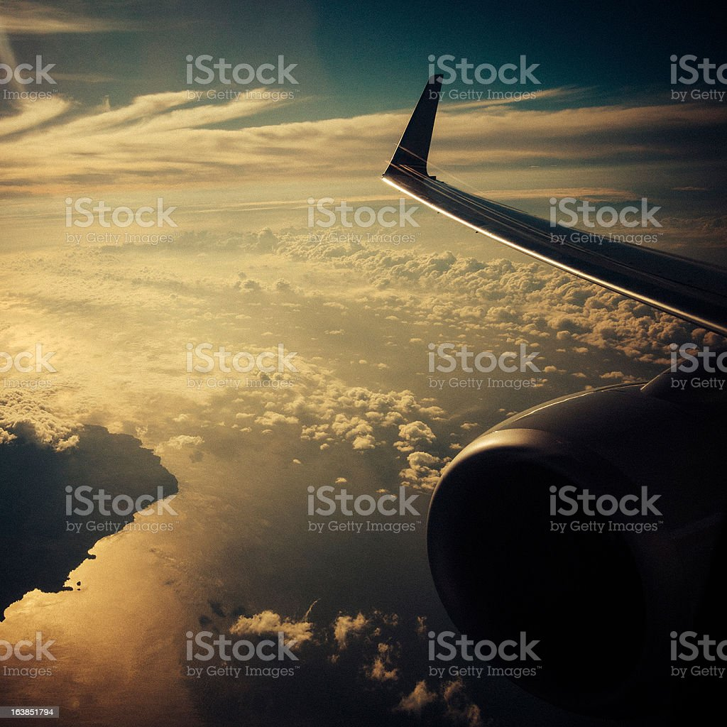aerial cloudscape royalty-free stock photo