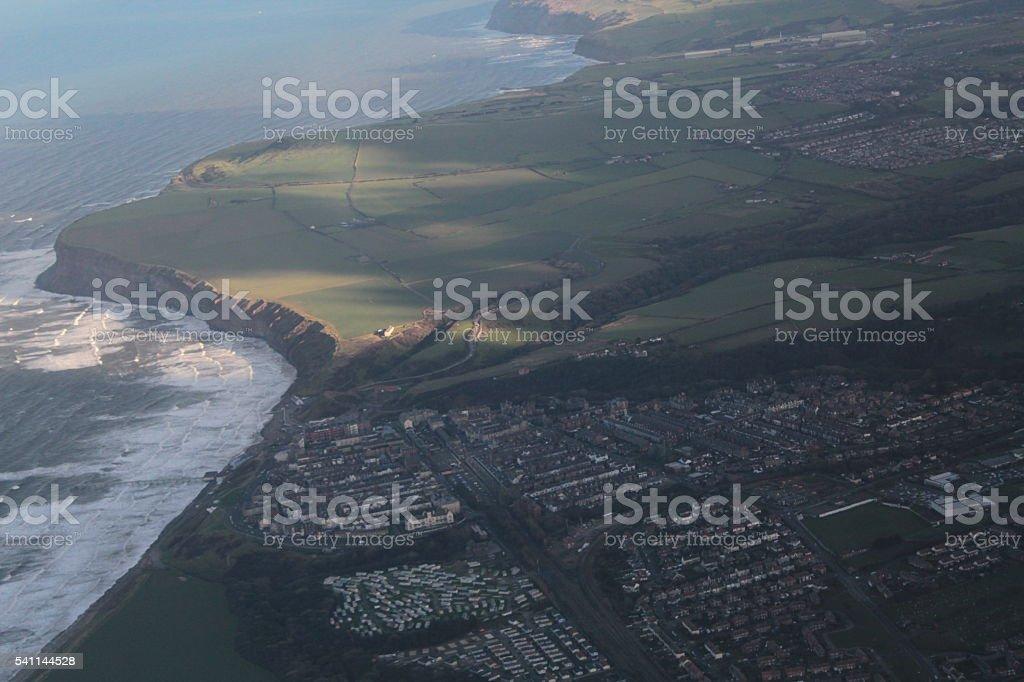 Aerial Coastal View stock photo