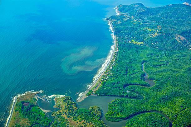 antena: litoral da costa rica - estuário imagens e fotografias de stock
