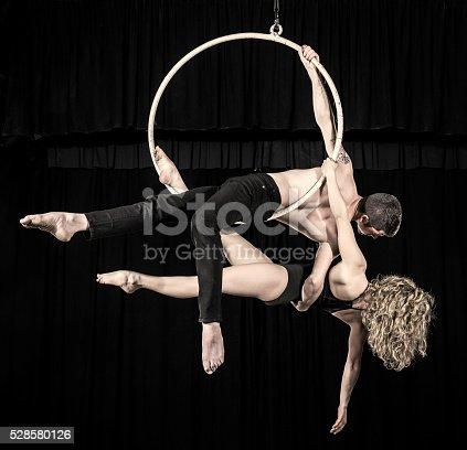 istock Aerial dancer couple performance 528580126