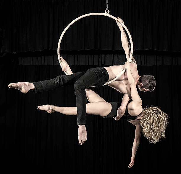 Luftbild Tänzer paar performance – Foto