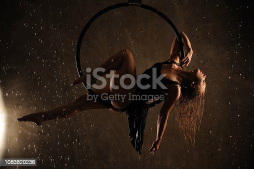 istock Aerial dancer during the rain. 1083820236