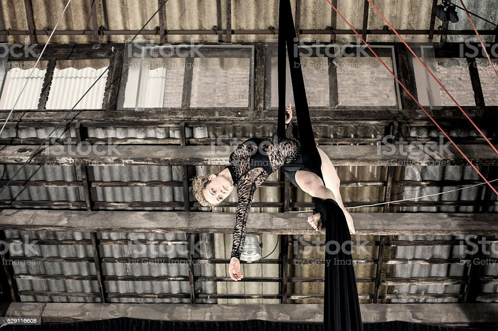 Aerial dancer stock photo