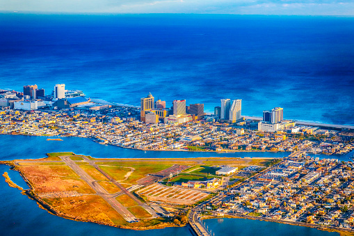 Aerial daytime view of Atlantic City, New Jersey