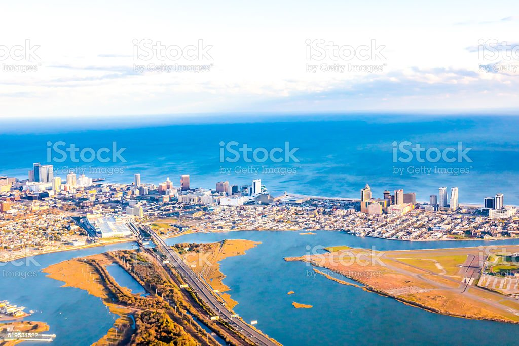 Aerial daytime view of Atlantic City, New Jersey stock photo