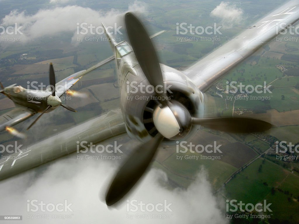 Aerial Dogfight royalty-free stock photo