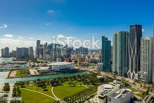 istock Aerial drone photo of Downtown Miami 2019 1190947449