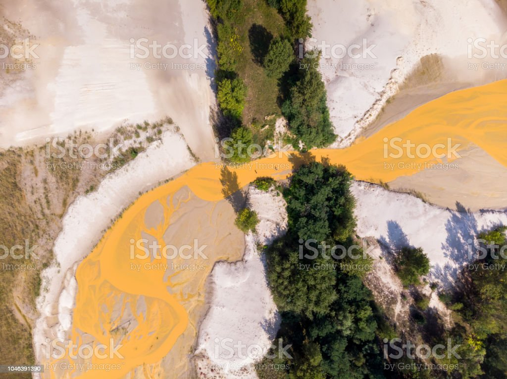 Aerial drone picture from lakes near the lake Balaton of Hungary, village Salfold – zdjęcie