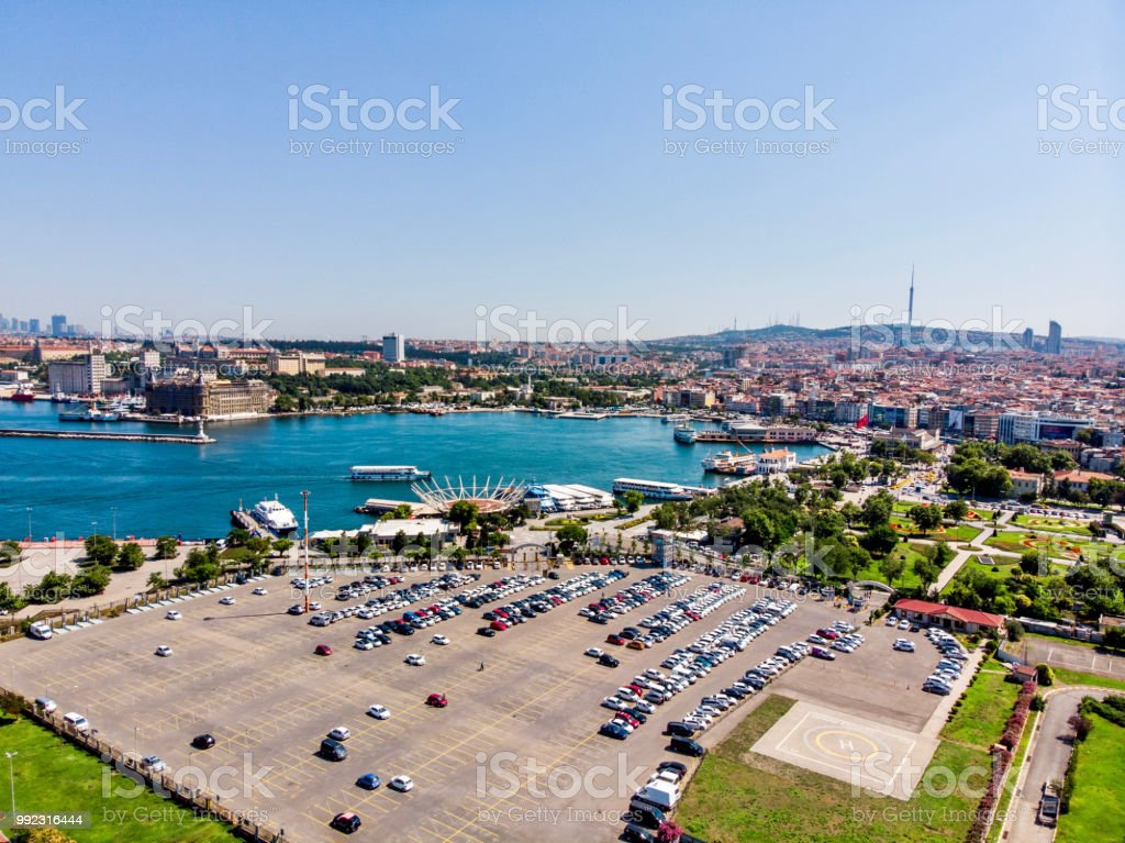 Aerial Drone View Of Kadikoy Car Park In Istanbul Stock Photo Download Image Now Istock