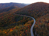 Winding road (route 215) through the Great Smokey Mountains