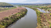 istock Aerial drone view over Vistula river near Cracow in Poland 1147344761