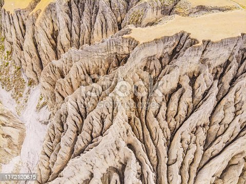 Aerial Dushanzi Grand Canyon,Vinjiang provice,China