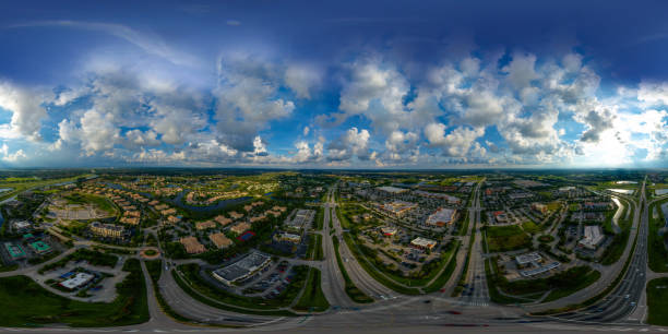 Aerial Equirectangular Photo Of Port St Lucie Florida Usa ...