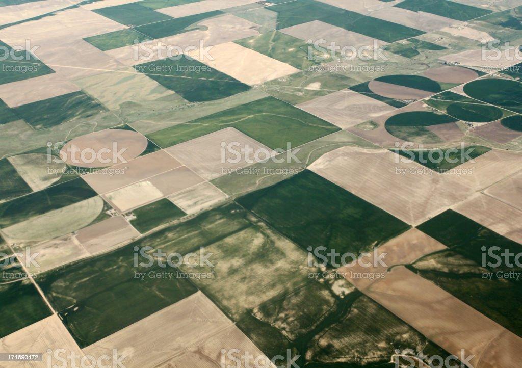 Aerial farm view royalty-free stock photo