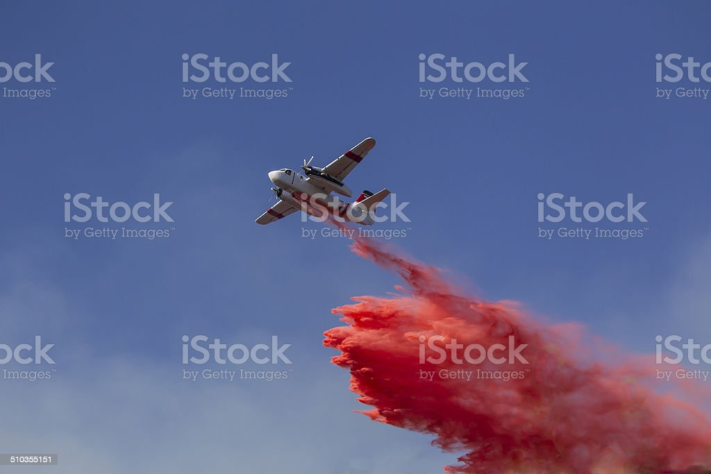 Aerial Fire Fight stock photo
