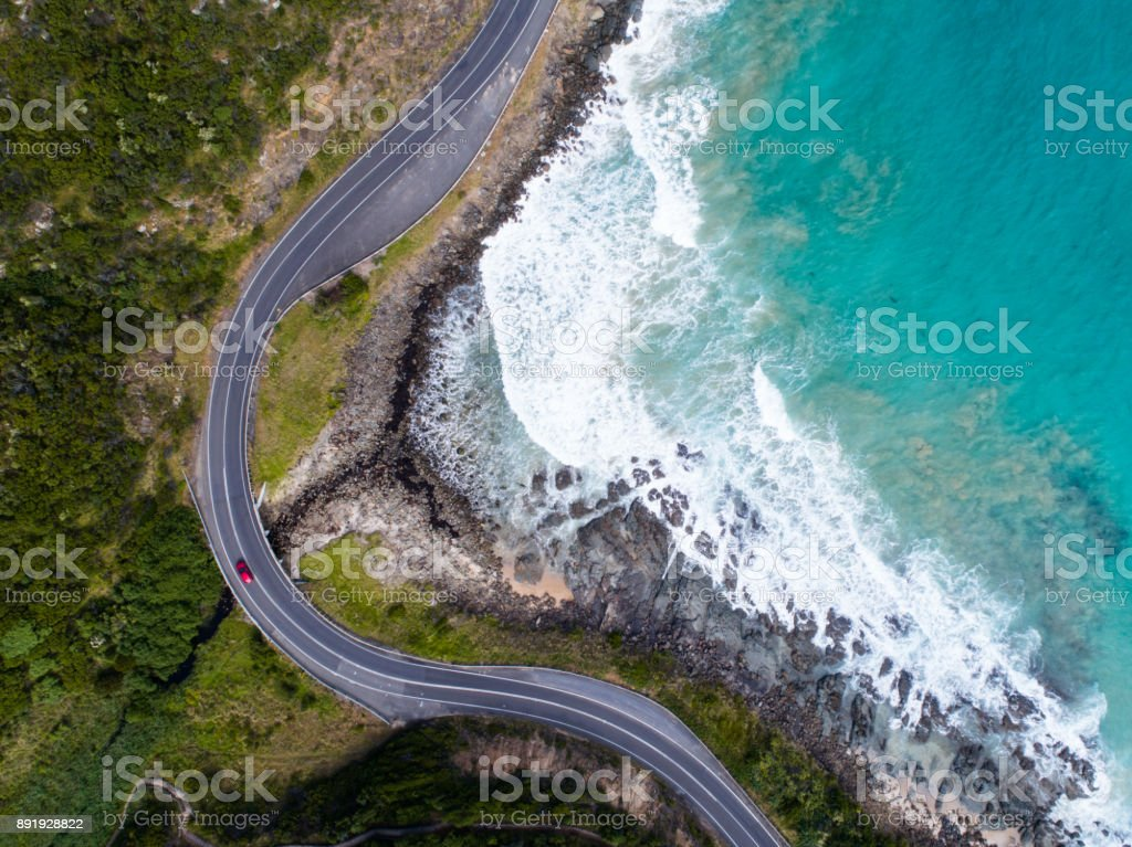 Aerial Great Ocean Road stock photo