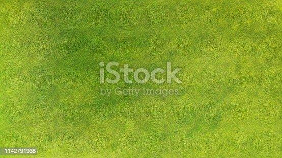 Aerial. Green grass texture background.