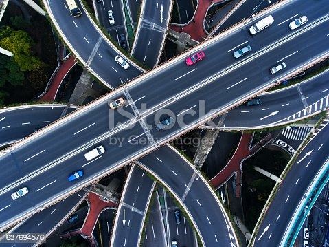 istock Aerial highway junction 637694576