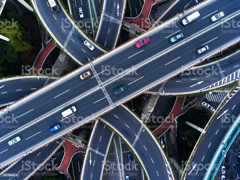 Aerial highway junction - Photo