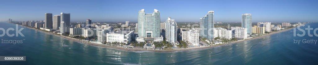 Aerial Hollywood Beach FL stock photo