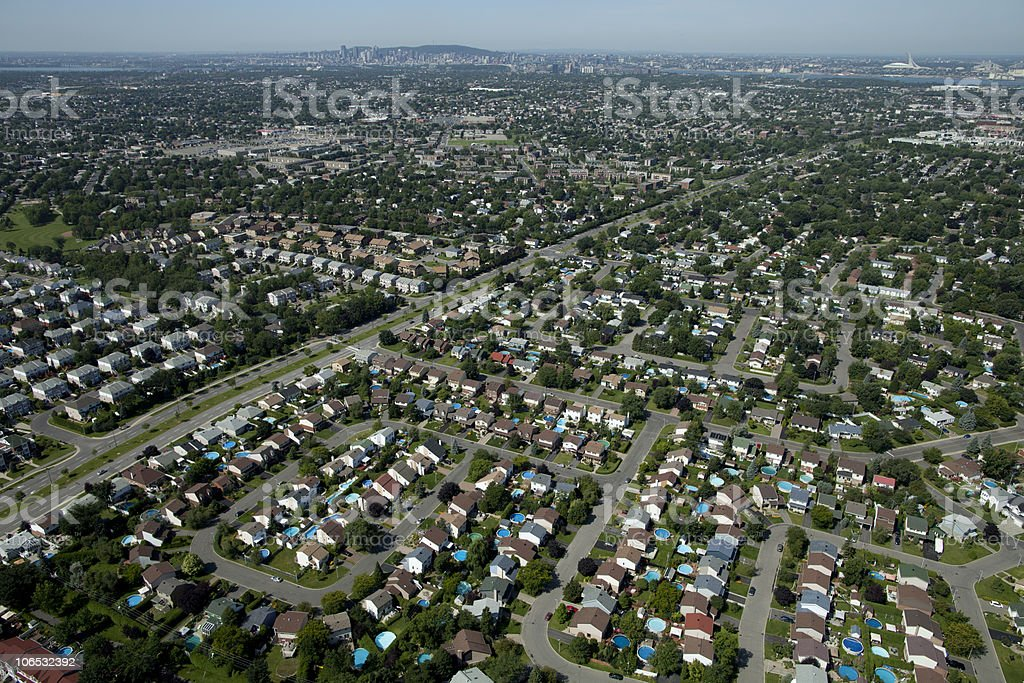 Aerial housing division royalty-free stock photo