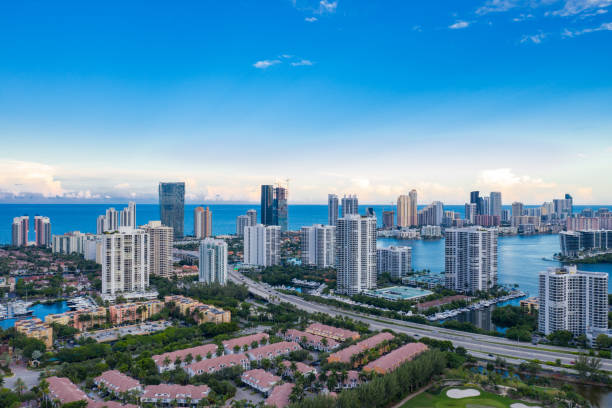 Aerial image Aventura Florida scenic landscape photo