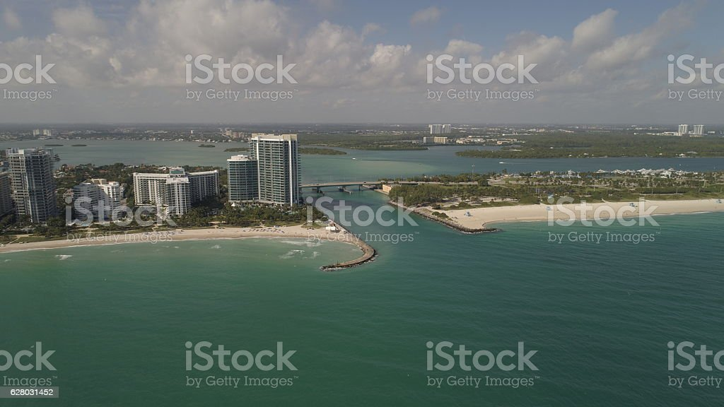 Aerial image Bal Harbour Florida stock photo