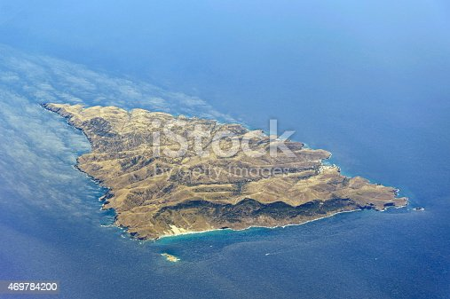 istock Aerial image of a greek island 469784200