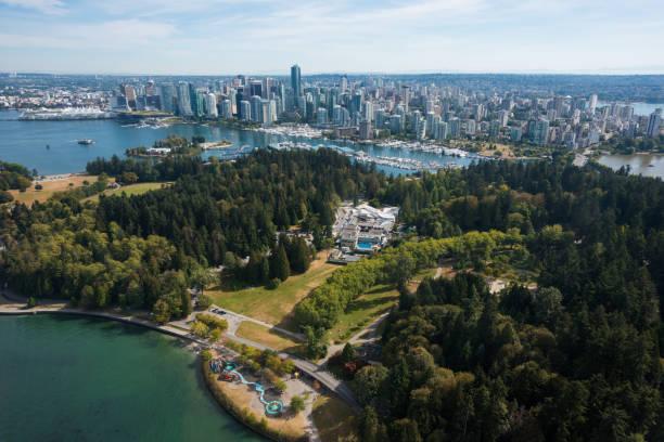 Luftaufnahme der Innenstadt von Vancouver, Kanada – Foto